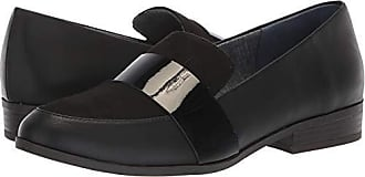 Dr. Scholls Womens Extra Driving Style Loafer, Black Smooth/Microfiber, 6 M US