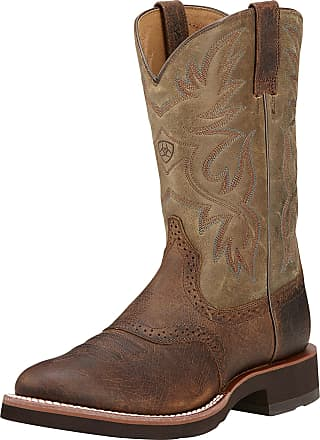 Ariat Mens Heritage Crepe Western Boots in Earth Leather, D Medium Width, Size 7.5, by Ariat