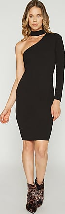 Alloy Apparel Nicole One Shoulder Gigi Dress Black Size XL/T