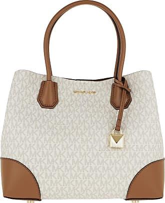 Michael Kors Tote - Mercer Gallery Medium Center Zip Tote Bag Vanilla/Acorn - beige - Tote for ladies