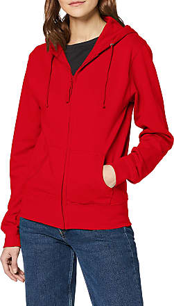 Awdis Womens Girlie Zoodie Hoodie, Red (Fire Red), 12 (Manufacturer Size:Medium)