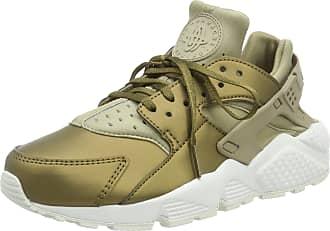Nike Womens Air Huarache Run PRM Txt Gymnastics Shoes, Green (Khaki/MTLC Field-Summit White 201), 4.5 UK