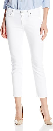 7 For All Mankind Womens Jeans Kimmie Straight Leg Pant, Clean White, 29W