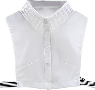 QUINTRA Women New Blouse False Collar Clothes Shirt Detachable Collars (White 0200)