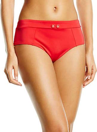 Gossard Womens Retro Button Short Bikini Bottoms, Red, 8 (Size: X-Small)