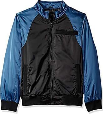 Urban Republic Mens Heavy Poly Satin Jacket, Black, M