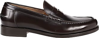 Doucal's Smooth Leather Penny Loafers, 40.5 Brown