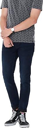 Only & Sons Mens Warp 407 Dark Blue Exp Re Skinny Fit Jeans