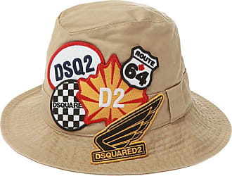 Dsquared2 Patched Hat Unisex Beige
