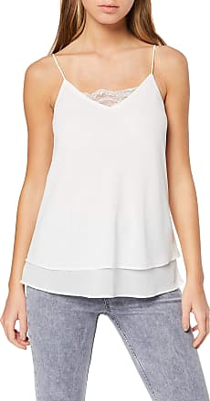Pieces Womens Pckaysa Lace Slip Top Noos Vest, White (Cloud Dancer Cloud Dancer), 12 (Size: Medium)