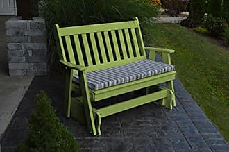 A & L Furniture A & L Furniture 870-LM Lime Poly Traditional English Glider Bench, Lime