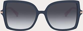 Valentino Valentino Occhiali Occhiale Da Sole Squadrato In Acetato Stud Donna Blu/grigio Sfumato Acetato 100% OneSize
