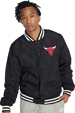 New Era Chicago Bulls Bomber Jacket, Black - Chicago Bulls, XL