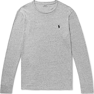 Polo Ralph Lauren Slim-fit Mélange Cotton-jersey T-shirt - Gray