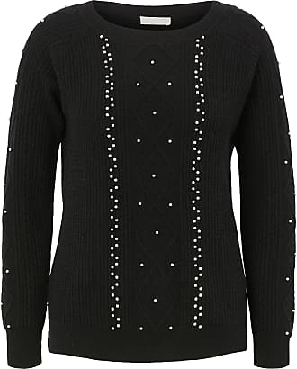 include Round neck jumper in 100% cashmere include black