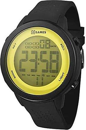 X-Games Relógio Masculino X-Games XMPPD475/YXPX - Preto/Amarelo