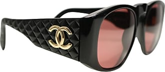48c7001892b Chanel Black Quilted Rectangular Gold cc Logo Sunglasses