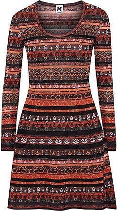 532c6e3d8665fa M Missoni M Missoni Woman Metallic Crochet-knit Mini Dress Bright Orange  Size 36