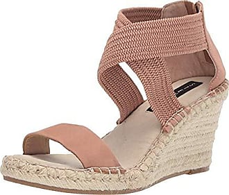 58a6a1b4491b Steven by Steve Madden Womens Excited Espadrille Wedge Sandal, Blush Multi,  10 M US