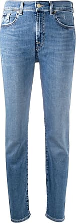 7 For All Mankind mid-rise tapered jeans - Azul