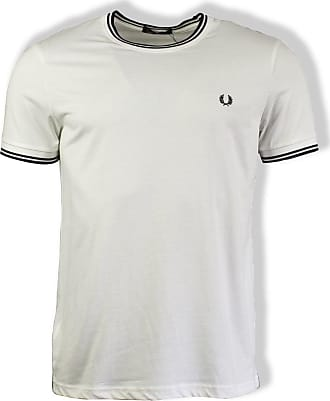 Fred Perry Weißes Twin Tipped T-Shirt - EXTRA LARGE - White