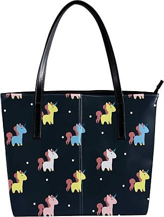 Nananma Womens Bag Shoulder Tote handbag Zipper Purse Top-handle Zip Bags - Cute Unicorn