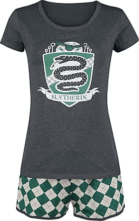 Harry Potter Slytherin Quidditch - Schlafanzug - grün, grau