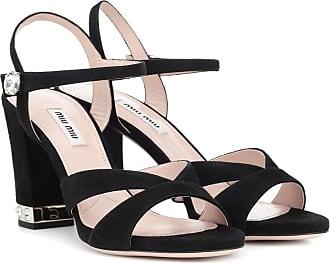 Miu Miu Embellished suede sandals