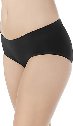 Vanity Fair Womens No Pinch-No Show Seamless Hip Brief Panty 18170 Hipster, Midnight Black, Small