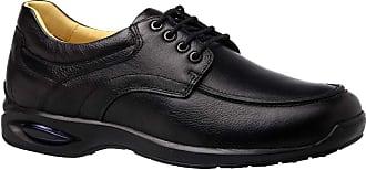 Doctor Shoes Antistaffa Sapato Masculino em Couro Preto Floater 1855 Doctor Shoes-Preto-37