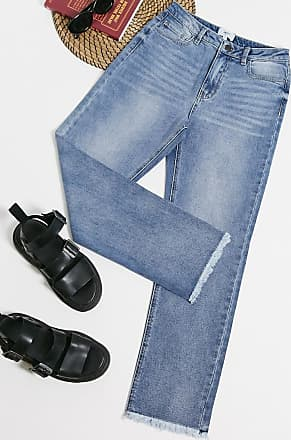 Object straight leg jeans in light blue wash