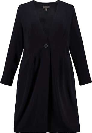Ulla Popken Womens Plus Size Business Suit Long Jacket Night Blue 26 724176 70-52