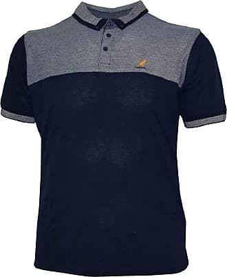 Kangol Mens Smart Casual Pique Polo Shirt (Zoran) in Navy in S
