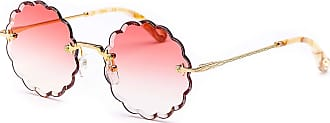 Chloé Womens Ce142s Sunglasses, Gold/Gradient Coral, Standard