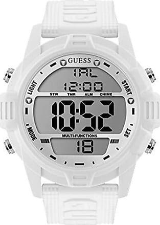 Guess Relógio Guess Masculino Branco 92768g0gsnv4 Digital 5 Atm Cristal Mineral Tamanho Extra Grande