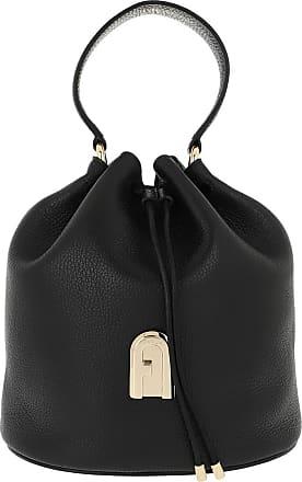 Furla Bucket Bags - Sleek Small Drawstring Nero Toni Nero - black - Bucket Bags for ladies