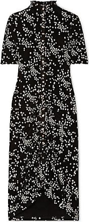 See By Chloé Ruched Floral-print Stretch-jersey Dress - Black