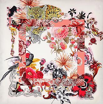 Salvatore Ferragamo Women Collage print silk scarf White