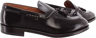 Doucal's Mens Loafers Horse Ebano Leather Dark Brown