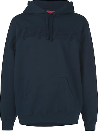 SUPREME embroidered logo hoodie - Blue