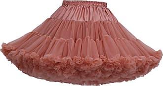 Isshe Womens Ruffled Tulle Skirt Tutu Skirts Adult Ruffle Tiered Tutu Skirt Petticoat Fluffy Layered Frilly Tulle Skirts Tutus Petticoats Ballerina Puffy Tu