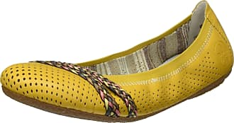 Rieker Womens Frühjahr/Sommer 41469 Ballet Flats, Yellow (Gelb/Multi/Multi 68), 3.5 UK