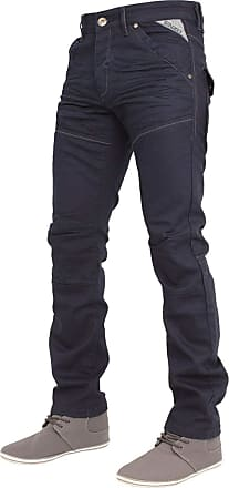 Enzo Jeans Mens Jeans Classic FIT Straight Leg in Black Grey Navy Colours 28 to 48 (38R, EZ329 Navy)