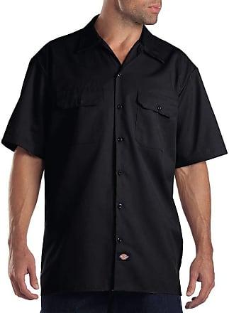 Dickies Mens Work Shirt Short Sleeved Workwear, Black, XXXX-Large