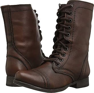 e4d49f4e620 Steve Madden Troopa Combat Boot (Brown Leather) Womens Lace up casual Shoes