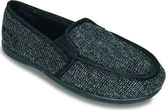 Padders Mens Slipper Wide Fit Black 12 UK
