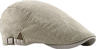 Zhhlaixing Cotton Blend Classic Flat Berets Cap Newsboy Hats - Men Boys Casual Driving Hat with Buckle Adjustable Beige