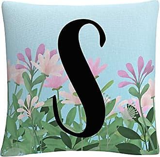 Trademark Fine Art Pink Floral Garden Letter Illustration S by ABC