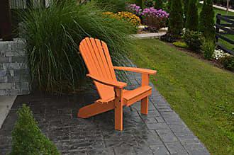 A & L Furniture A & L Furniture 880-O Orange Poly Fanback Adirondack Chair