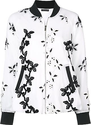 Natori embroidered bomber jacket - White